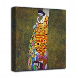 Rahmen, der Die hoffnung II - Gustav Klimt - druck auf leinwand, leinwand mit oder ohne rahmen