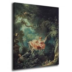 Quadro I fortunati casi dell'altalena - Jean-Honoré Fragonard - stampa su tela canvas con o senza telaio