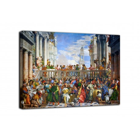 Painting The wedding at Cana - Veronese - print on canvas with or without frame