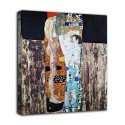 The framework of The three ages of woman - Gustav Klimt - print on canvas with or without frame