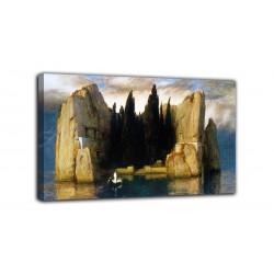Peinture à l'ile de la mort (troisième version) - Arnold Böcklin - impression sur toile avec ou sans cadre