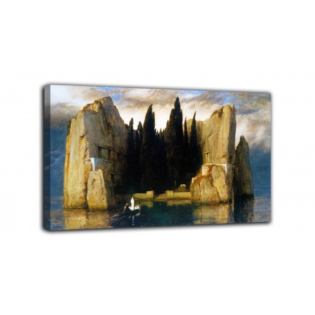 Painting the isle of The dead (third version) - Arnold Böcklin - print on canvas with or without frame