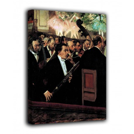 Picture The orchestra of the Opéra - Edgar Degas - print on canvas with or without frame