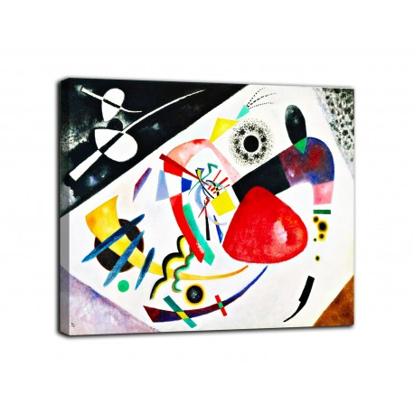 Painting red Spot II - Kandinsky - print on canvas with or without frame