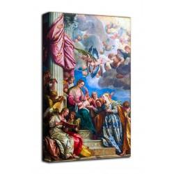 Peinture le Mariage mystique de Sainte Catherine d'Alexandrie - Vérone - impression sur toile avec ou sans cadre