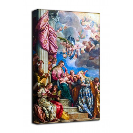 Painting the mystic Marriage of Saint Catherine of Alexandria - Verona - print on canvas with or without frame