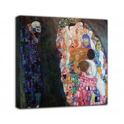 La peinture de la Mort et de la vie - Gustav Klimt - impression sur toile avec ou sans cadre