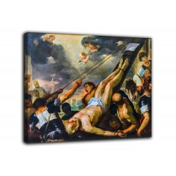 Painting the Crucifixion of St Peter - Luca Giordano - print on canvas with or without frame
