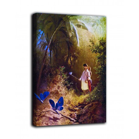 Picture of The hunter of butterflies - Carl Spitzweg - print on canvas with or without frame