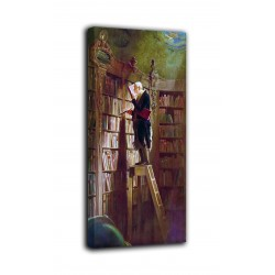 The framework of The bookworm - Carl Spitzweg - print on canvas with or without frame