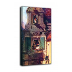Picture love Letter intercepted - Carl Spitzweg - print on canvas with or without frame