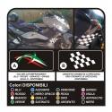 Adesivi per YAMAHA T MAX 500 per FIANCATA laterale t-max tmax carter SCACCHI