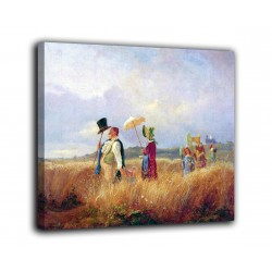 Picture of The walk on Sunday - Carl Spitzweg - print on canvas with or without frame