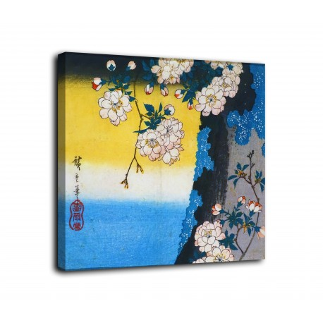 The framework Cherry-double-flower - Utagawa Hiroshi - print on canvas with or without frame
