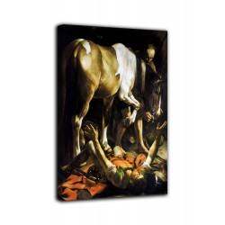 Marco Conversión en el camino a Damasco - Caravaggio - impresión en lienzo con o sin marco