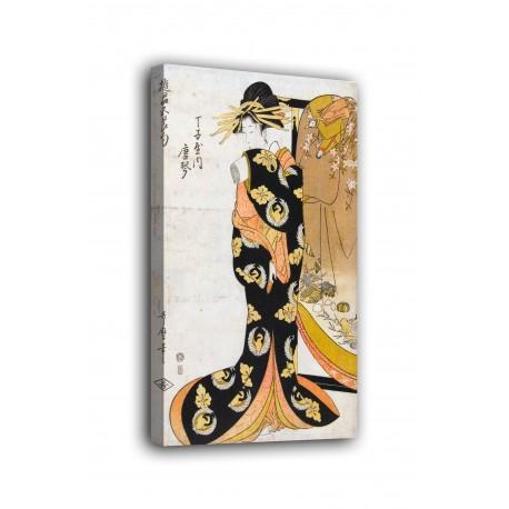 The framework Courtesan Karagoto of the house of Chojiya - Kitagawa Utamaro - prints on canvas with or without frame