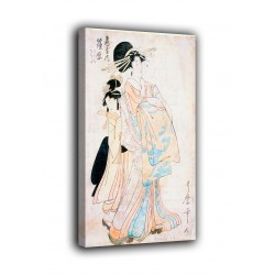 Quadro Cortigiana Shinohara della casa di Tsuruya - Kitagawa Utamaro - stampa su tela canvas con o senza telaio