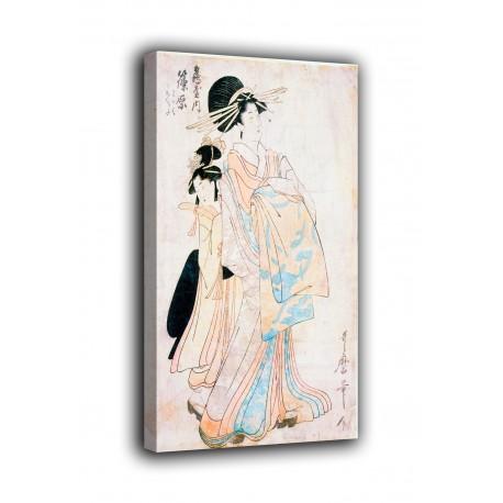 Le cadre Courtisane Shinohara de la maison de Tsuruya - Kitagawa Utamaro - des impressions sur toile avec ou sans cadre