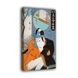 Rahmen Ichikawa Danjūrō VIII in der rolle des Sukeroku - Utagawa Kunisada - druck auf leinwand, leinwand mit oder ohne rahmen