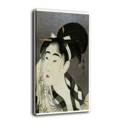 L'image d'une Femme qui sèche la sueur - Kitagawa Utamaro - des impressions sur toile avec ou sans cadre