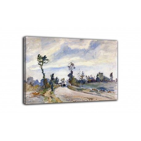 The framework Louveciennes, Route de Saint-Germain - Camille Pissarro - print on canvas with or without frame
