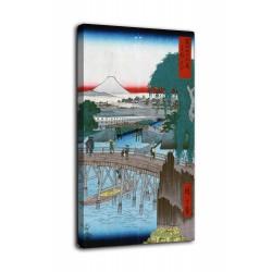 Rahmen Ichikobu Bridge - Hiroshige - drucken auf leinwand, leinwand mit oder ohne rahmen
