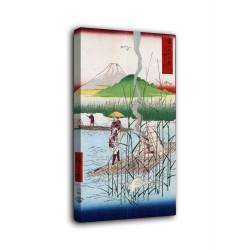 L'image de La rivière de Sagami, Hiroshige - impression sur toile avec ou sans cadre