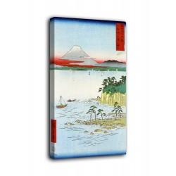 La imagen del mar frente a La costa de la península de Miura - Hiroshige - impresión en lienzo con o sin marco