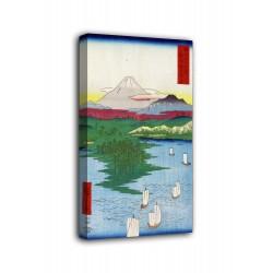 Le cadre du Noge et Yokohama - Hiroshige - impression sur toile avec ou sans cadre
