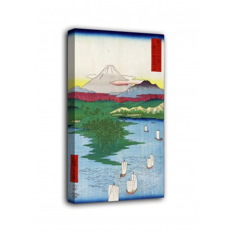 The framework Noge and Yokohama - Hiroshige - print on canvas with or without frame