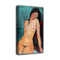Painting seated Nude - Modigliani - print on canvas with or without frame