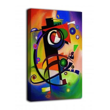Quadro Omaggio a kandinsky I - stampa su tela canvas con o senza telaio