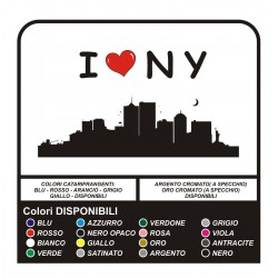 Etiqueta engomada de I LOVE New York, Manhattan, NY, Brooklyn - pegatinas de Pared - SINGLE version