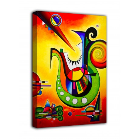 Picture Tribute to kandinsky II - print on canvas with or without frame