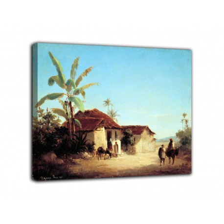 Picture of tropical Landscape - Camille Pissarro - print on canvas with or without frame