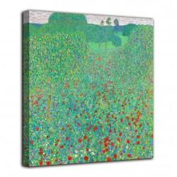 Cadre de Coquelicots en fleurs - Gustav Klimt - impression sur toile avec ou sans cadre