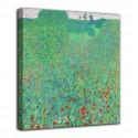 Quadro Papaveri in fiore - Gustav Klimt - stampa su tela canvas con o senza telaio