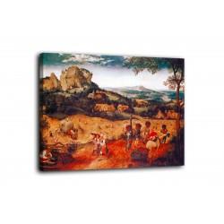 Quadro La raccolta del fieno - Pieter Bruegel il Vecchio - stampa su tela canvas con o senza telaio