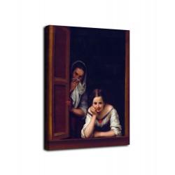 L'image de La jeune fille à la fenêtre - Murillo - impression sur toile avec ou sans cadre