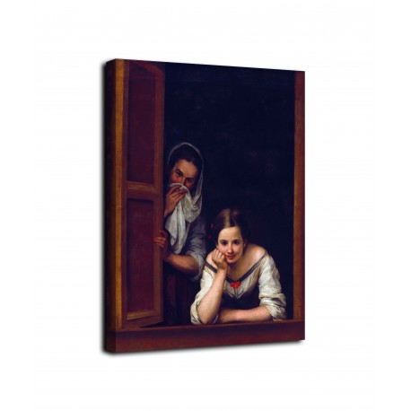 Picture of The girl in the window - Murillo - print on canvas with or without frame
