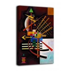 Quadro Parte superiore e sinistra - Vassily Kandinsky - stampa su tela canvas con o senza telaio