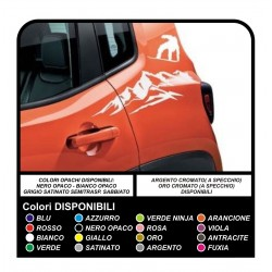 Stickers Stickers for Jeep Renegade mountain snowboard rear door
