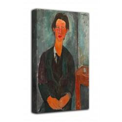 Rahmen Porträt von Chaim Soutine - Amedeo Modigliani - druck auf leinwand, leinwand mit oder ohne rahmen