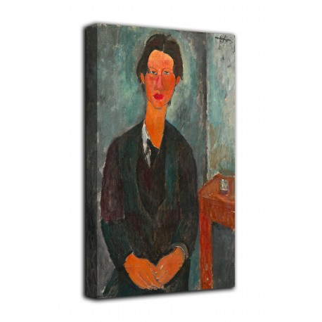 Picture Portrait of Chaim Soutine - Amedeo Modigliani - print on canvas with or without frame