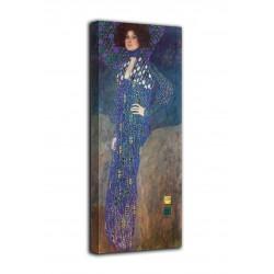 Cadre le Portrait d'Emilie Flöge - Gustav Klimt - impression sur toile avec ou sans cadre