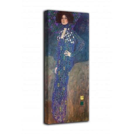 Framework the Portrait of Emilie Flöge - Gustav Klimt - print on canvas with or without frame