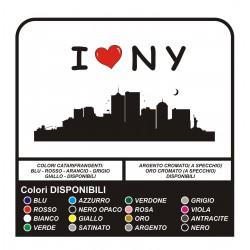 Etiquetas engomadas de la pared de I LOVE New York para una PARED de Manhattan, NY, Brooklyn - pegatinas de Pared