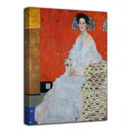 Framework the Portrait of Fritza Riedler - Gustav Klimt - print on canvas with or without frame
