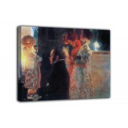 Bild Schubert am klavier - Gustav Klimt - druck auf leinwand, leinwand mit oder ohne rahmen