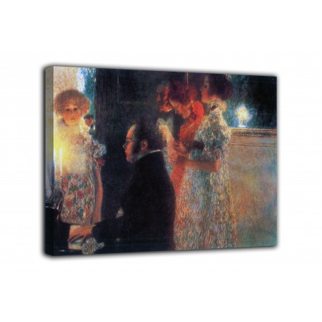 Painting Schubert at the piano - Gustav Klimt - print on canvas with or without frame
